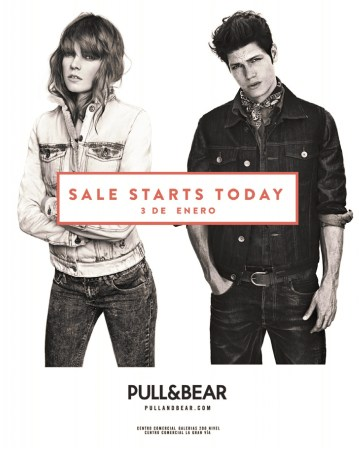 Rebajas SALE STARTS TODAY pull & bear - 03ene14